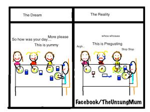 Dinner-Dream V Reality